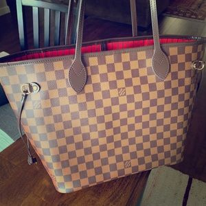 Louis Vuitton Never Full MM Damier Ebene